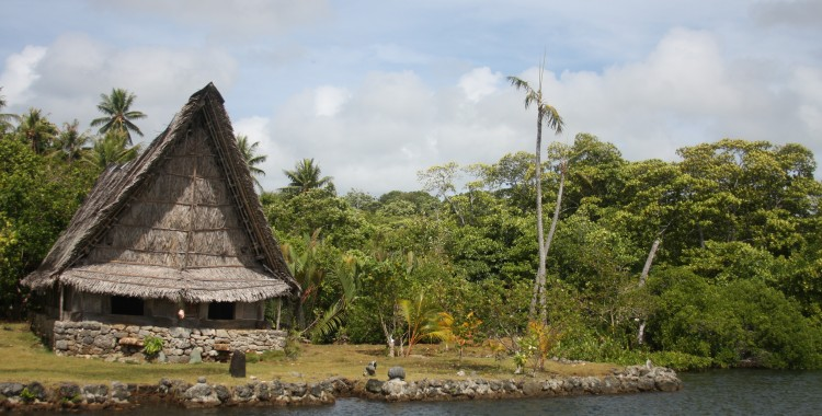 A village's men's house is almost always built near the water.