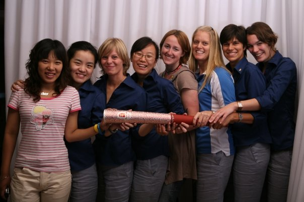 2008 torch relay and olympic games hospitality team in Beijing
