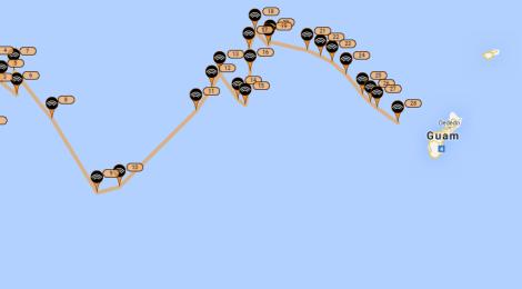 Closing in on Guam